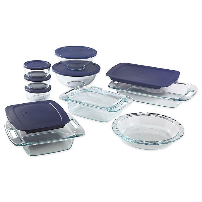Alternate image 1 for Pyrex® 17-Piece Glass Bakeware Set