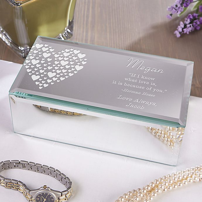 Alternate image 1 for Love Is Kind Engraved Mirrored Storage Box