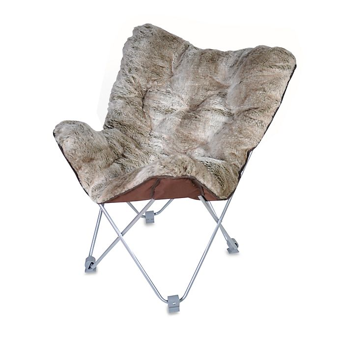 Incredible Butterfly Chair Faux Fur Bed Bath Beyond Theyellowbook Wood Chair Design Ideas Theyellowbookinfo