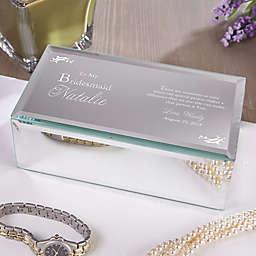 To My Bridesmaid Engraved Mirrored Jewelry Box