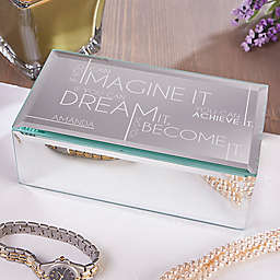Inspiring Messages Engraved Mirrored Jewelry Box
