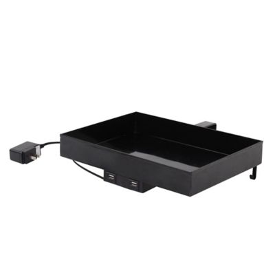 Lifestyle Home Metal Usb Charging Bunk Shelf In Black by Bed Bath And Beyond