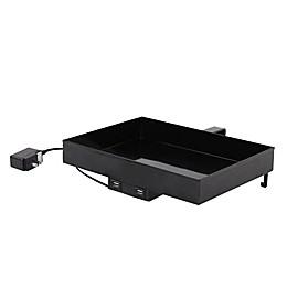 Lifestyle Home Metal USB Charging Bunk Shelf in Black