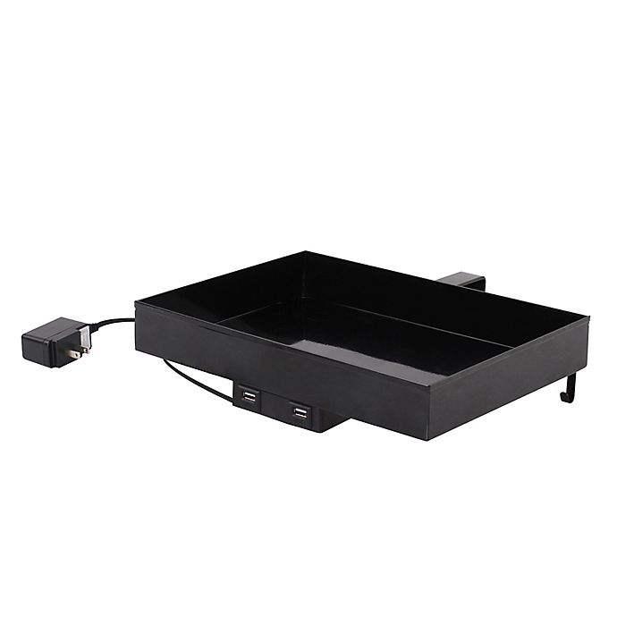 Alternate image 1 for Lifestyle Home Metal USB Charging Bunk Shelf in Black