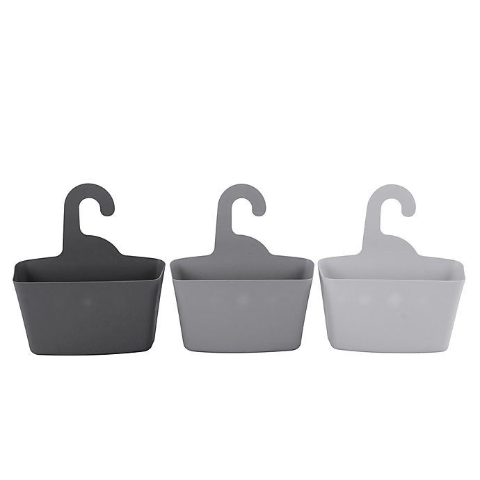 Alternate image 1 for Lifestyle Home Hanging Totes in Grey (Set of 3)