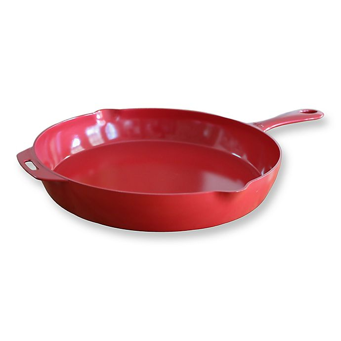 Alternate image 1 for ANYWARE® by Little Griddle Nonstick 18-Inch Ceramic-Coated Aluminum Skillet in Red