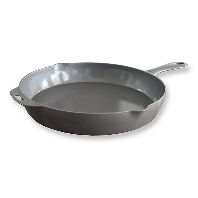 Alternate image 1 for ANYWARE® by Little Griddle Nonstick 18-Inch Ceramic-Coated Aluminum Skillet in Grey