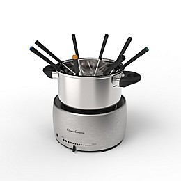 Classic Cuisine Stainless Steel Fondue Set with 8 Forks