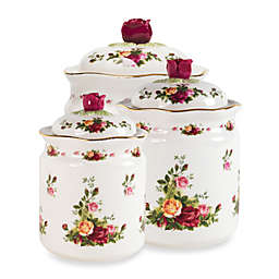 Royal Albert Old Country Roses 3-Piece Covered Canister Set
