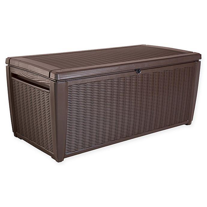 Alternate image 1 for Keter Sumatra Outdoor Deck Storage Box in Brown