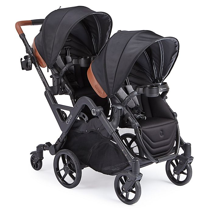 Alternate image 1 for Contours® Double Stroller in Black