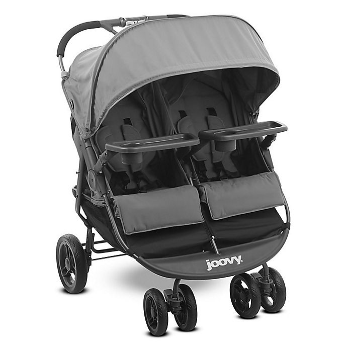 Alternate image 1 for Joovy® ScooterX2 Double Stroller with Trays in Grey