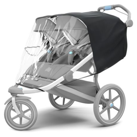 Thule Urban Glide Double Rain Cover In Black Buybuy Baby