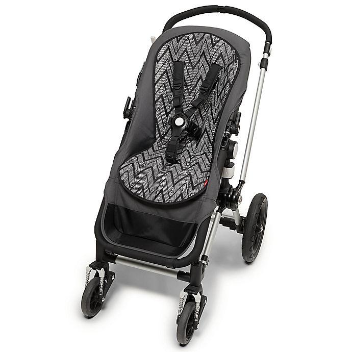 Alternate image 1 for SKIP*HOP® Stroll & Go Cool Touch Zebra Stroller Liner in Black