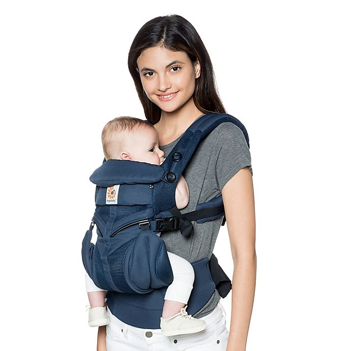 Alternate image 1 for Ergobaby™ Omni 360 Cool Air Mesh Baby Carrier in Midnight Blue