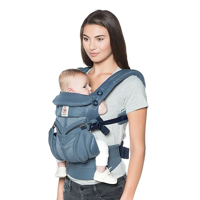 Alternate image 1 for Ergobaby™ Omni 360 Cool Air Mesh Baby Carrier in Oxford Blue