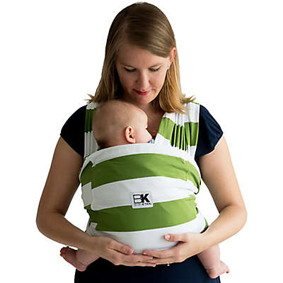 Baby K'tan® Print Striped Baby Carrier in White/Olive