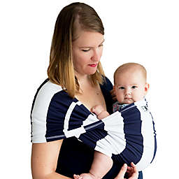 Baby K'tan® Print Striped Baby Carrier in Navy/White