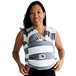 Baby K'tan® Print Striped Baby Carrier in Grey/White