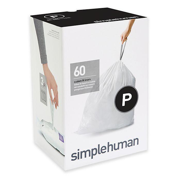 Alternate image 1 for simplehuman® Code P 50-60 Liter Custom Fit Liners