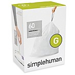 simplehuman® Code G 60-Pack 30-Liter Custom-Fit Liners in White