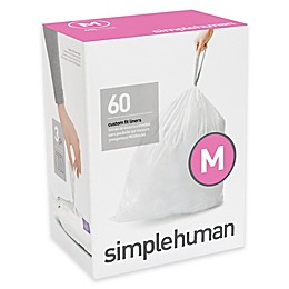 simplehuman® Code M  45-Liter Custom-Fit Liners in White