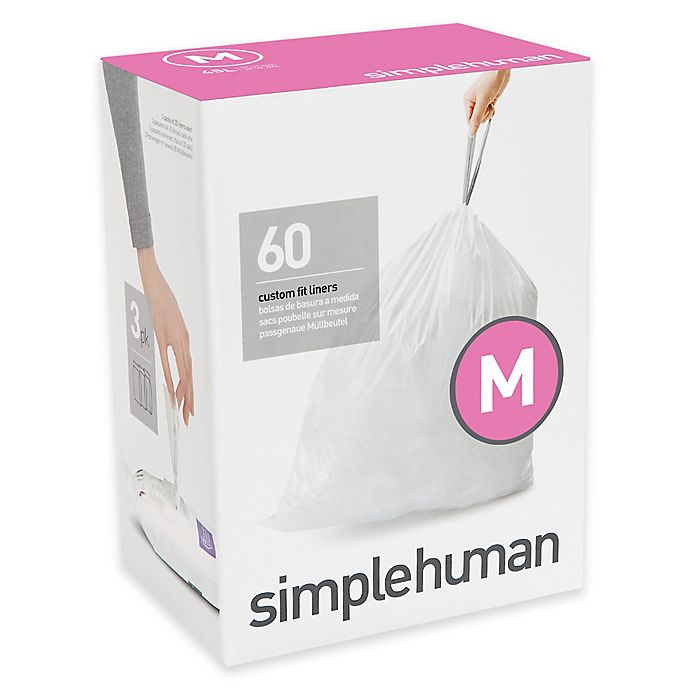 Alternate image 1 for simplehuman® Code M  45-Liter Custom-Fit Liners in White