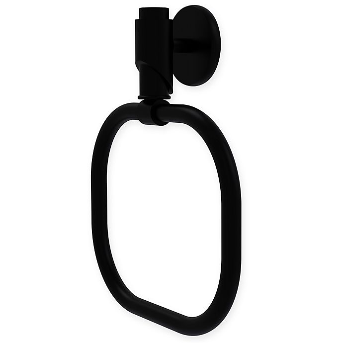 Alternate image 1 for Allied Brass Tribeca Collection Towel Ring in Matte Black