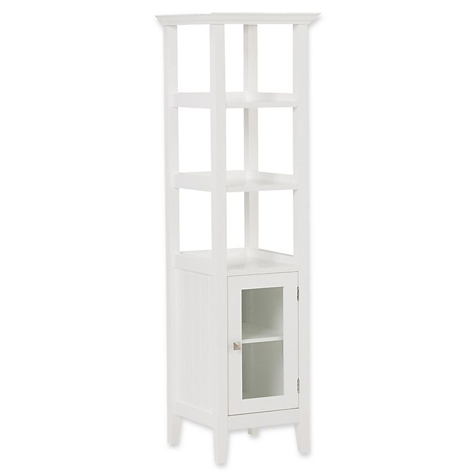 Alternate image 1 for Simpli Home Acadian Bath Storage Tower in White