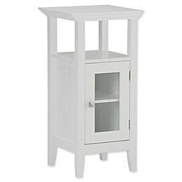 Simpli Home Acadian Floor Storage Cabinet in White