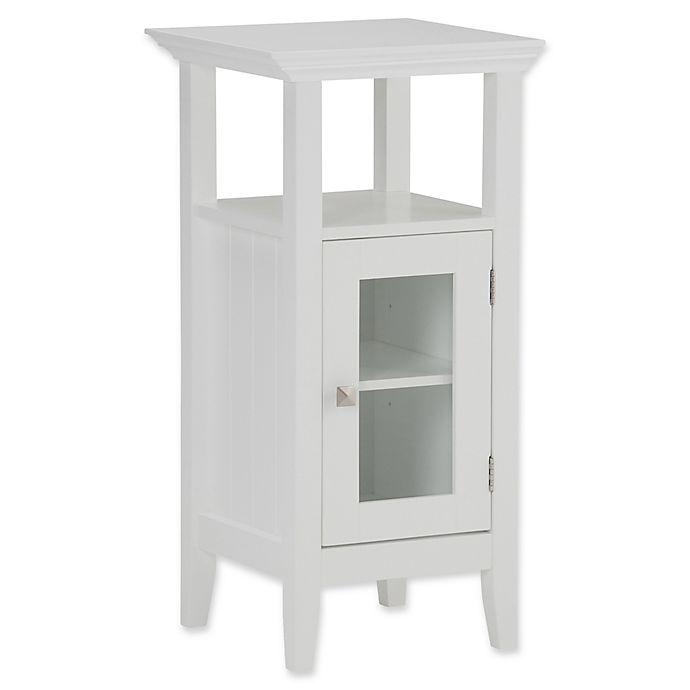 Alternate image 1 for Simpli Home Acadian Floor Storage Cabinet in White
