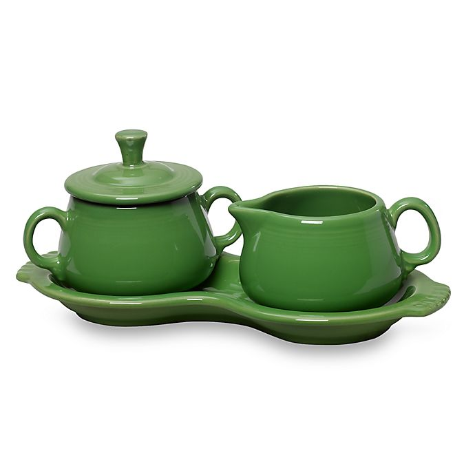 Alternate image 1 for Fiesta® Sugar and Creamer Set with Tray in Shamrock