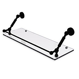 Allied Brass Waverly Place Floating Glass Shelf with Gallery Rail