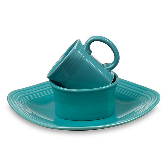 Alternate image 1 for Fiesta® Square Dinnerware Collection in Turquoise