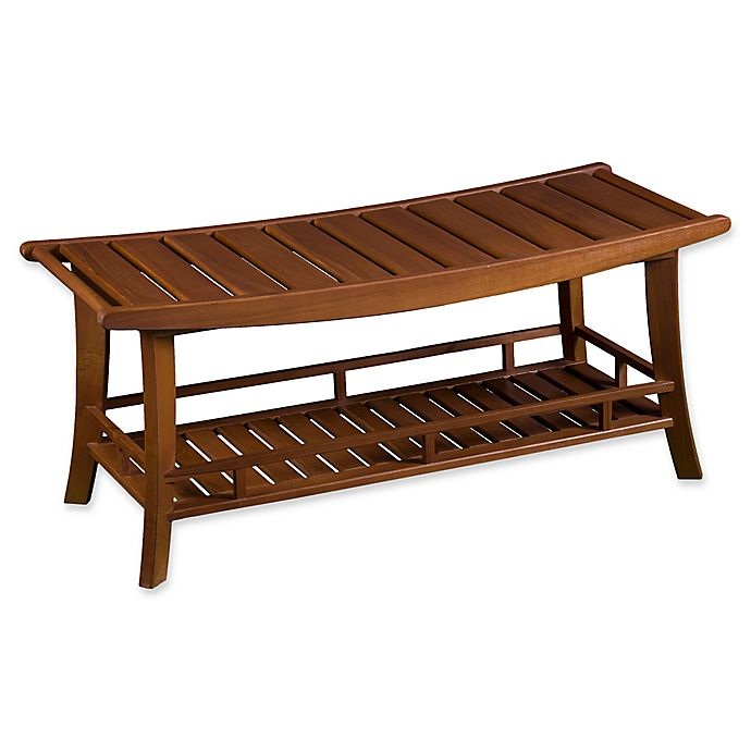 Buy Teak Large Shower Stool Bench In Brown From Bed Bath
