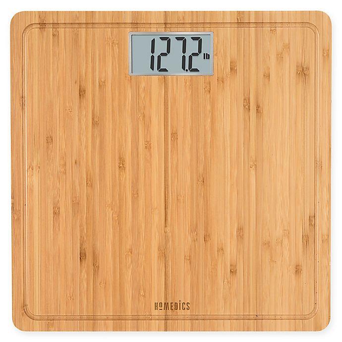 Alternate image 1 for Homedics® Digital Bath Scale in Natural Bamboo