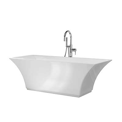 A&E Bath and Shower Abzu 67-Inch x 29 1/2-Inch Acrylic Freestanding Tub with Faucet in White