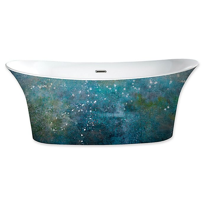 Alternate image 1 for A&E Bath and Shower Cyclone Painted 66 1/2-Inch x 30 1/4-Inch Acrylic Freestanding Tub in Blue/Green