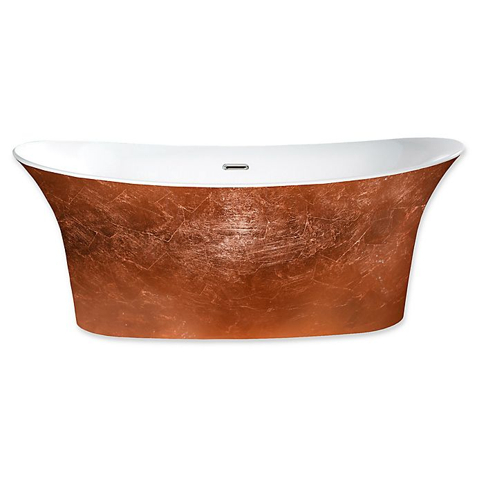 Alternate image 1 for A&E Bath and Shower Cyclone 66 1/2-Inch x 30 1/4-Inch Acrylic Freestanding Tub in Copper
