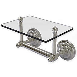 Allied Brass Que New Toilet Paper Holder with Shelf