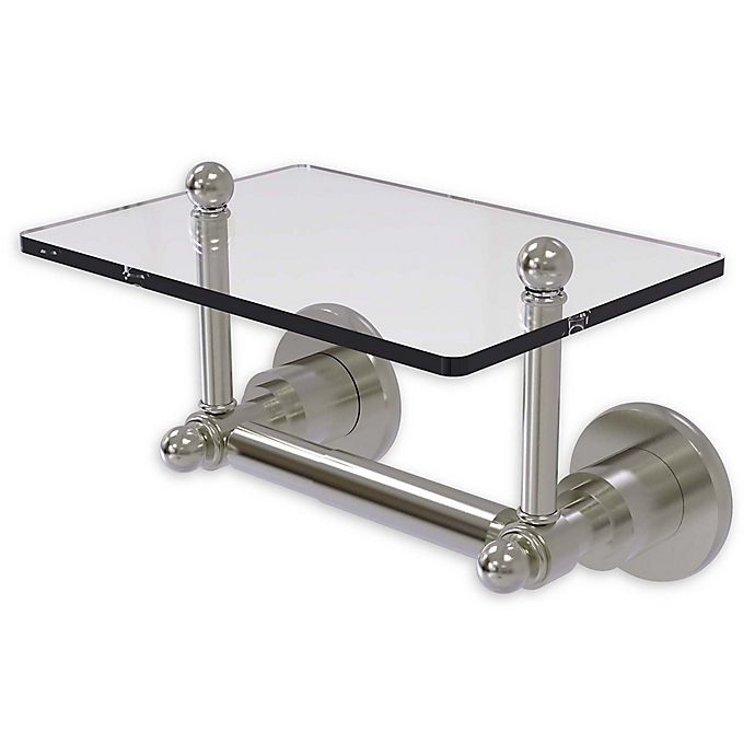 Allied Brass Astor Place Toilet Paper Holder With Glass Shelf Bed