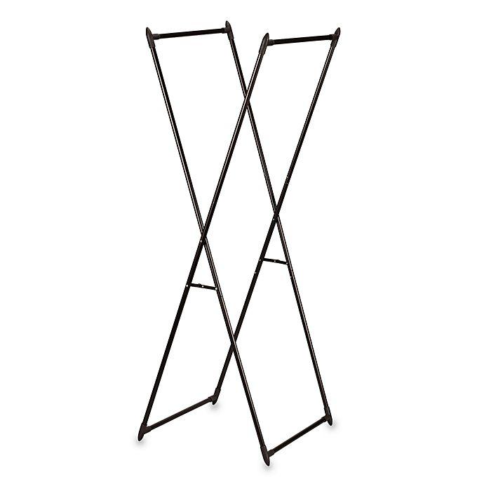 Alternate image 1 for Household Essentials™ Antique Bronze Valet/Portable Garment Rack