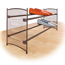 Lynk Expandable Mesh Shoe Rack in Bronze