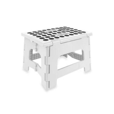 Kikkerland 174 Easy Folding Step Stool In White Bed Bath