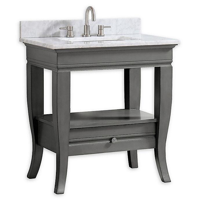 Alternate image 1 for Avanity™ Milano 31-Inch Single Vanity with Sink and Mirror in Light Charcoal/White