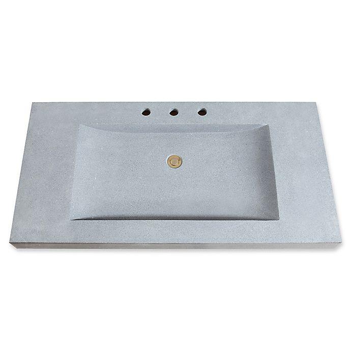 Avanity 43-Inch Stone Integrated Sink Vanity Top | Bed ...