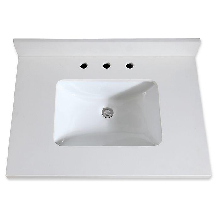 Avanity 31 Inch Quartz Vanity Top With Integrated Sink