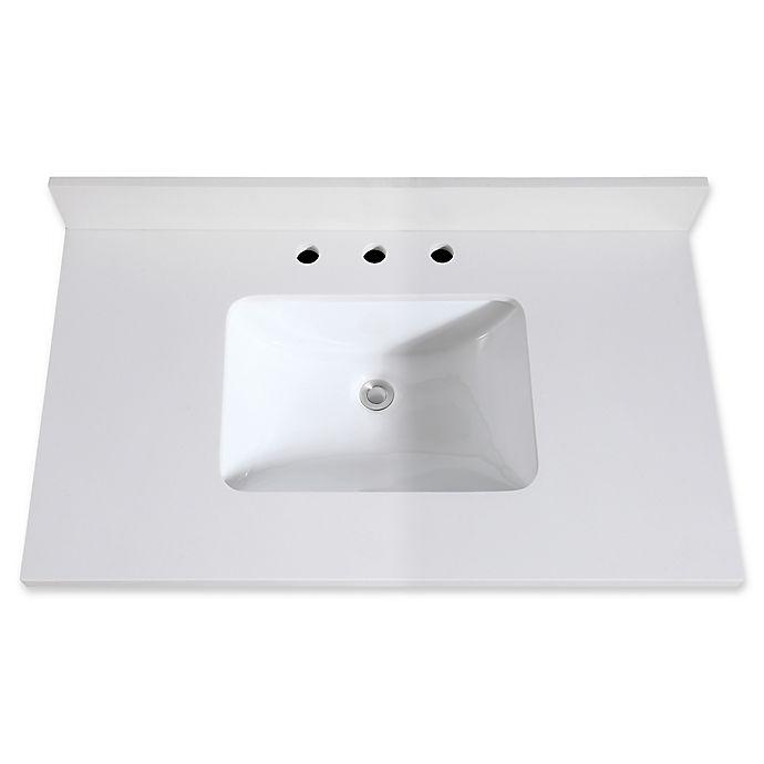 Avanity 37 Inch Quartz Vanity Top With Integrated Sink