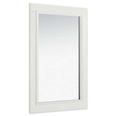 SimpliHome™ Cambridge 30-Inch x 22-Inch Rectangular Bath Vanity Decor Mirror in Soft White