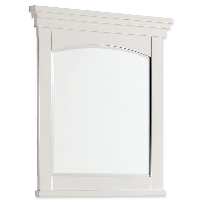 Alternate image 1 for SimpliHome™ Elise 34-Inch x 30-Inch Rectangular Bath Vanity Decor Mirror in Soft White